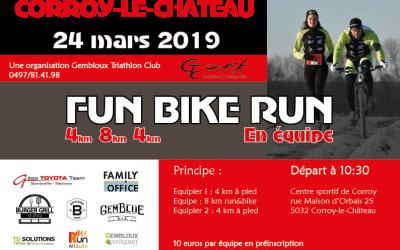 Fun Bike Run, une épreuve à découvrir le 24 mars 2019
